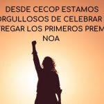 DESDE CECOP ESTAMOS ORGULLOSOS DE CELEBRAR Y ENTREGAR LOS PRIMEROS PREMIOS NOA